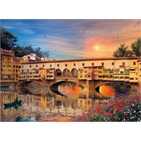 Clementoni 1000 Parça Puzzle Romantik İtalya - Firenze
