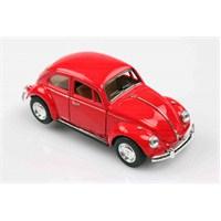 Kinsmart 1967 Volkswagen Classical Beetle 1/32 Çek Bırak Die Cast Model Araç Kırmızı