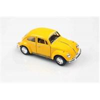 Kinsmart 1967 Volkswagen Classical Beetle 1/32 Çek Bırak Die Cast Model Araç Sarı