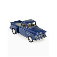Kinsmart 1955 Chevy Stepside Pick-Up Çek Bırak 1/32 Die Cast Model Araç Mavi