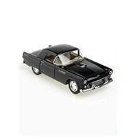Kinsmart 1955 Ford Thunderbird Çek Bırak 1/36 Die Cast Model Araç Siyah