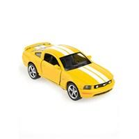 Kinsmart 2006 Ford Mustang GT Çek Bırak 1/38 Die Cast Model Araç Sarı