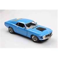 Motomax Mavi 1970 Ford Mustang Boss 429 1/24 Die Cast Model Araç