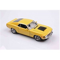 Motomax Sarı 1970 Ford Mustang Boss 429 1/24 Die Cast Model Araç