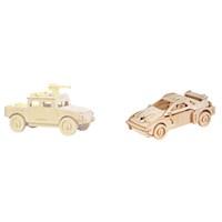 Learning Toys 2'li 3D Ahşap Maket Paketi