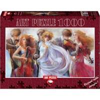 Art Puzzle 1000 Parça Maskeli Balo Özel Panorama Puzzle