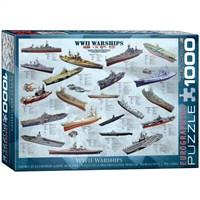 Eurographics Puzzle 1000 Parça 2. Dünya Savaşı Savaş Gemileri