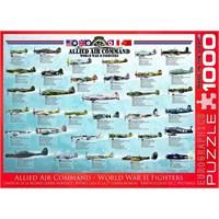 Eurographics Müttefik Hava Kuvvetleri İkinci Dünya Savaş Uçakları 1000 Parça Puzzle