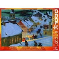 1000 Parça Christmas Mass Puzzle Eurographics (Clarence Alphonse Gagnon)