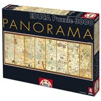 Educa 3000 Parça Mappa Mundi 1375 Puzzle Cresques Abraham