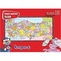 Kırkpabuç Türkiye Haritası - 110 Parça Puzzle
