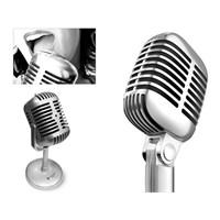Nostaljik Görünümlü Karaoke Mikrofon