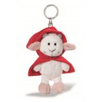 Nici Peluş Anahtarlık Bean Bag Kırmızı Başlıklı Keçi 10 cm