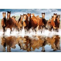 Clementoni Puzzle Horses In The Water (1500 Parça)