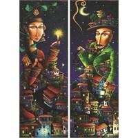 Gold Puzzle 2x1000 Parça Gece Randevusu (Panorama Puzzle)
