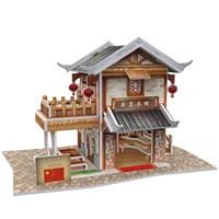 Cubic Fun 3D 46 Parça Puzzle Chinese Leming Teahouse