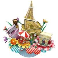 Cubic Fun 3D 74 Parça Puzzle Cityscape - Fransa Paris