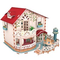 Cubic Fun 3D 114 Parça Puzzle Holiday Bungalow Dollhouse