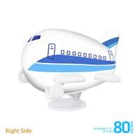 Pintoo Gök Mavi Havayolları-80 Parça 3D Uçak Puzzle