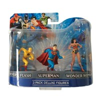 Dc Comics Superman Flash Wonder Woman 3'Lü Figür Seti