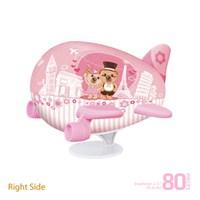 Pintoo Romantik Avrupa Seyahati - 80 Parça 3D Uçak Şeklinde Puzzle