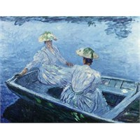 On The Bargue, Monet (1000 Parça)