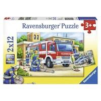Polis Ve İtfaiye (2X12 Parça Puzzle)