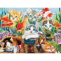 Fishing Kittens (750 Parça Puzzle)