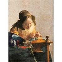 Merlettaia, Vermeer (1000 Parça Puzzle)