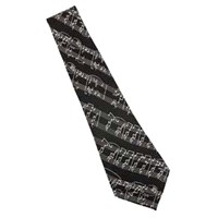 Notalı Siyah Kravat
