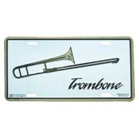 Trombon Metal Plaka