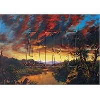 Art Puzzle Gün Batımında Issız Kır Manzarası (1500 Parça)