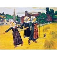 Art Puzzle Bretonyalı Üç Kızın Dansı (500 Parça)