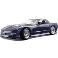 Maisto Chevrolet Corvette 2001 Model Araba 1:18 Special Edition Lacivert