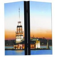 Eser Manzaralı Polyester Tavla (Kız Kulesi) (Büyük)