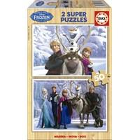 Educa Puzzle Çocuk 2X50 Parça Disney Frozen