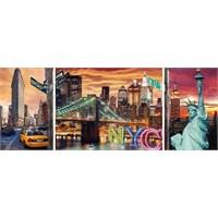 Ravensburger 1000 Parça 3Lü Puzzle New York Işıltısı