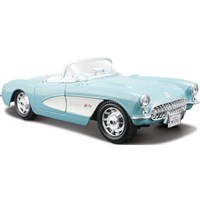 Maisto Chevrolet Corvette 1957 Diecast Model Araba 1:24 Special Edition Turkuaz