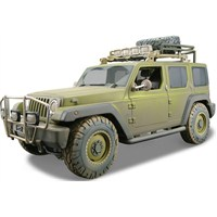 Maisto Jeep Rescue Concept Model Araba 1:18 Dirt Riders Yeşil