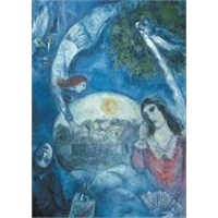 Ricordi Puzzle Around her,Marc Chagall (1500 Parça)