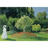 Ricordi Puzzle The woman in the garden, Monet (1500 Parça)