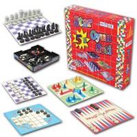 Star Beşli Oyun Seti - 5İn1 (Tavla - Satranç - Kızmabirader - Solotest - Dama)