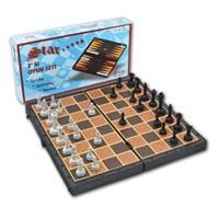 Star Üçlü Oyun Seti - 3İn1 (Tavla - Dama - Satranç)