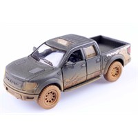 Diecast Off-Road 2013 Ford F-150 Svt Raptor Supercrew Çek Bırak 1/46 Die Cast Model Araç