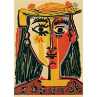 İf Puzzle 1000 Parça Woman With Hat Puzzle (Picasso)