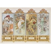Clementoni Puzzle The 4 Seasons, Mucha (1000 Parça)