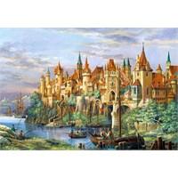 Castorland Puzzle City of Rothenburg (3000 Parça)