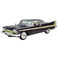 Motormax 1:18 1958 Plymouth Fury Siyah -Diecast Model Araba