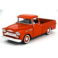 Motormax 1:24 1958 Chevy Apache Fleetside Pickup -Kırmızı Model Araba