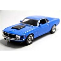 Motormax 1:24 1970 Ford Mustang Boss 429 -Mavi Model Araba